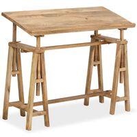 vidaXL Stôl na kreslenie, mangový masív 116x50x76 cm