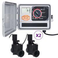 vidaXL Záhradný regulátor zavlažovania so 4 solenoidnými ventilmi