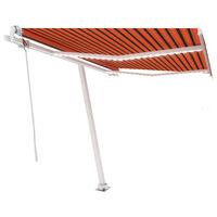 vidaXL Automatická markíza s LED a senzorom vetra 350x250 cm oranžovo-hnedá