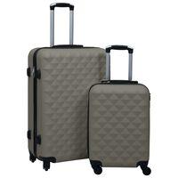 vidaXL Súprava cestovných kufrov s tvrdým krytom 2 ks antracitová ABS