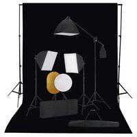 vidaXL Fotografické vybavenie so softboxami, pozadím a reflektorom