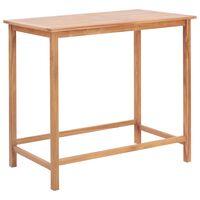 vidaXL Záhradný barový stôl 120x65x110 cm, tíkový masív