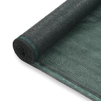 vidaXL Zástena na tenisový kurt, HDPE 1,6x50 m, zelená