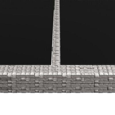 vidaXL Vonkajší jedálenský stôl sivý 200x150x74 cm polyratan