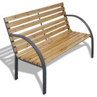 vidaXL Záhradná lavička 120 cm, drevo a železo
