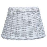 vidaXL Tienidlo lampy biele 50x30 cm prútené
