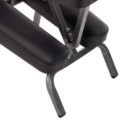 vidaXL Masážna stolička, umelá koža, čierna 122x81x48 cm