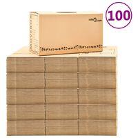 vidaXL Kartónové krabice na sťahovanie XXL 100 ks 60x33x34 cm