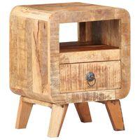 vidaXL Nočný stolík 30x30x41 cm surové mangovníkové drevo