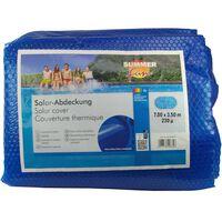 Summer Fun Letná solárna plachta na bazén, oválna 700x350 cm, PE, modrá