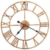 vidaXL Nástenné hodiny zlaté 40 cm kovové