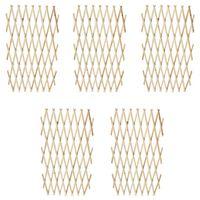 vidaXL Mriežkový plot 5 ks, drevený masív 180x90 cm