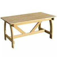 vidaXL Záhradný stôl 150x74x75 cm, impregnovaná borovica