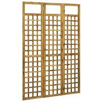 vidaXL 3-panelový paraván masívne akáciové drevo 120x170 cm