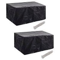 vidaXL Ochranné obaly na záhradný nábytok 2 ks 240x140cm polyratanová súprava pre 6 osôb 10 očiek