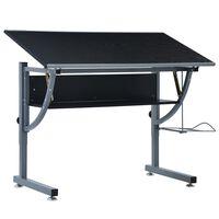 vidaXL Kresliaci stôl pre dospievajúcich čierny 110x60x87 cm MDF