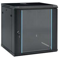 """vidaXL 12U Nástenná serverová skriňa 19"""" 600x600x640 mm IP20"""