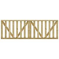 vidaXL Latkové záhradné bránky 2 ks, impregnovaná borovica 150x100 cm