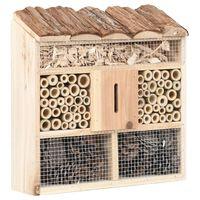 vidaXL Hotel pre hmyz 30x10x30 cm jedľové drevo