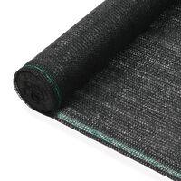 vidaXL Zástena na tenisový kurt, HDPE 1,4x25 m, čierna