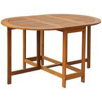 vidaXL Záhradný stôl 130x90x72 cm, akáciový masív