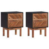 vidaXL Nočné stolíky 2 ks 40x30x53 cm akáciový masív a MDF