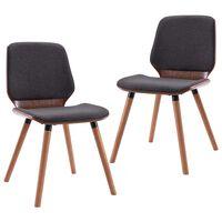 vidaXL Jedálenské stoličky 2 ks sivé látkové