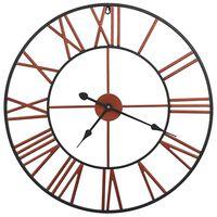 vidaXL Nástenné hodiny červené 58 cm kovové