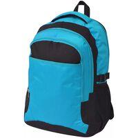 vidaXL Školský batoh, 40 l, čierno-modrý