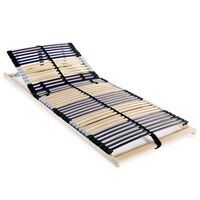 vidaXL Lamelový posteľný rošt so 42 lamelami a 7 zónami 70x200 cm