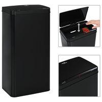 vidaXL Automatický odpadkový kôš so senzorom čierny oceľový 80 l