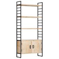 vidaXL 4-poschodová knižnica 80x30x180 cm mangovníkový masív