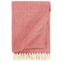 vidaXL Deka, bavlna 125x150 cm, červená