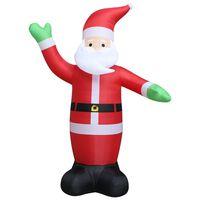 vidaXL Nafukovací vianočný Santa Claus s LED IP44 600 cm XXL