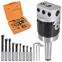 vidaXL 15-dielna sada vyvrtávacích nástrojov 50 mm vyvŕtavacia hlava MT2-F1-12