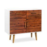 vidaXL Komoda, masívne akáciové drevo, 90 x 33,5 x 83 cm