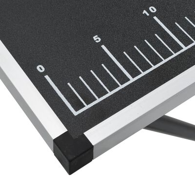 vidaXL Skladací tapetovací stôl, MDF a hliník 300x60x78 cm
