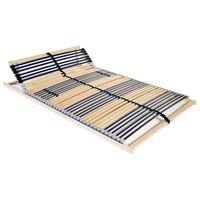 vidaXL Lamelový posteľný rošt so 42 lamelami a 7 zónami 100x200 cm