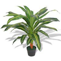 vidaXL Umelá rastlina, dracéna s kvetináčom 90 cm, zelená