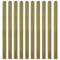 vidaXL Impregnované plotové dosky 20 ks, drevo 140 cm