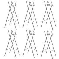 vidaXL Skladacie nohy na stôl 6 ks strieborné 45x55x112 cm pozinkovaná oceľ