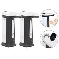 vidaXL Automatické dávkovače mydla, infračervený senzor 2 ks 800 ml
