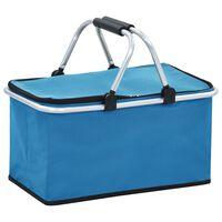 vidaXL Chladiaca studená taška modrá 46x27x23 cm hliník
