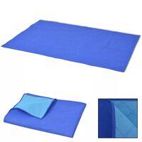 vidaXL Pikniková deka, modro-bledomodrá, 100x150 cm