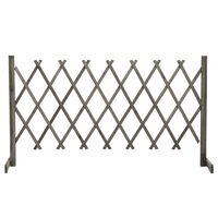 vidaXL Záhradný mriežkový plot sivý 150x80 cm masívne jedľové drevo