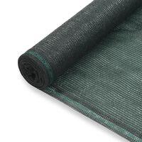vidaXL Zástena na tenisový kurt, HDPE 1,4x50 m, zelená