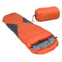 vidaXL Ľahký detský spací vak oranžový 670 g 10°C