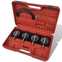 Tester pre synchronizáciu karburátora a meranie tlaku/vákua