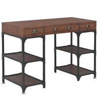 vidaXL Stôl s 3 zásuvkami 110x50x78 cm masívne jedľové drevo