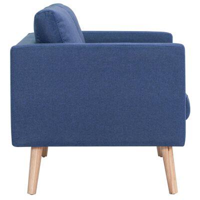 vidaXL Látková 2-dielna sedacia súprava modrá